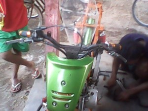 modifikasi motor supra drag bike