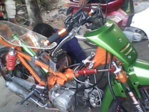 Modifikasi motor supra drag ane nui gan, spek klaZ 140 cc n mesin udah