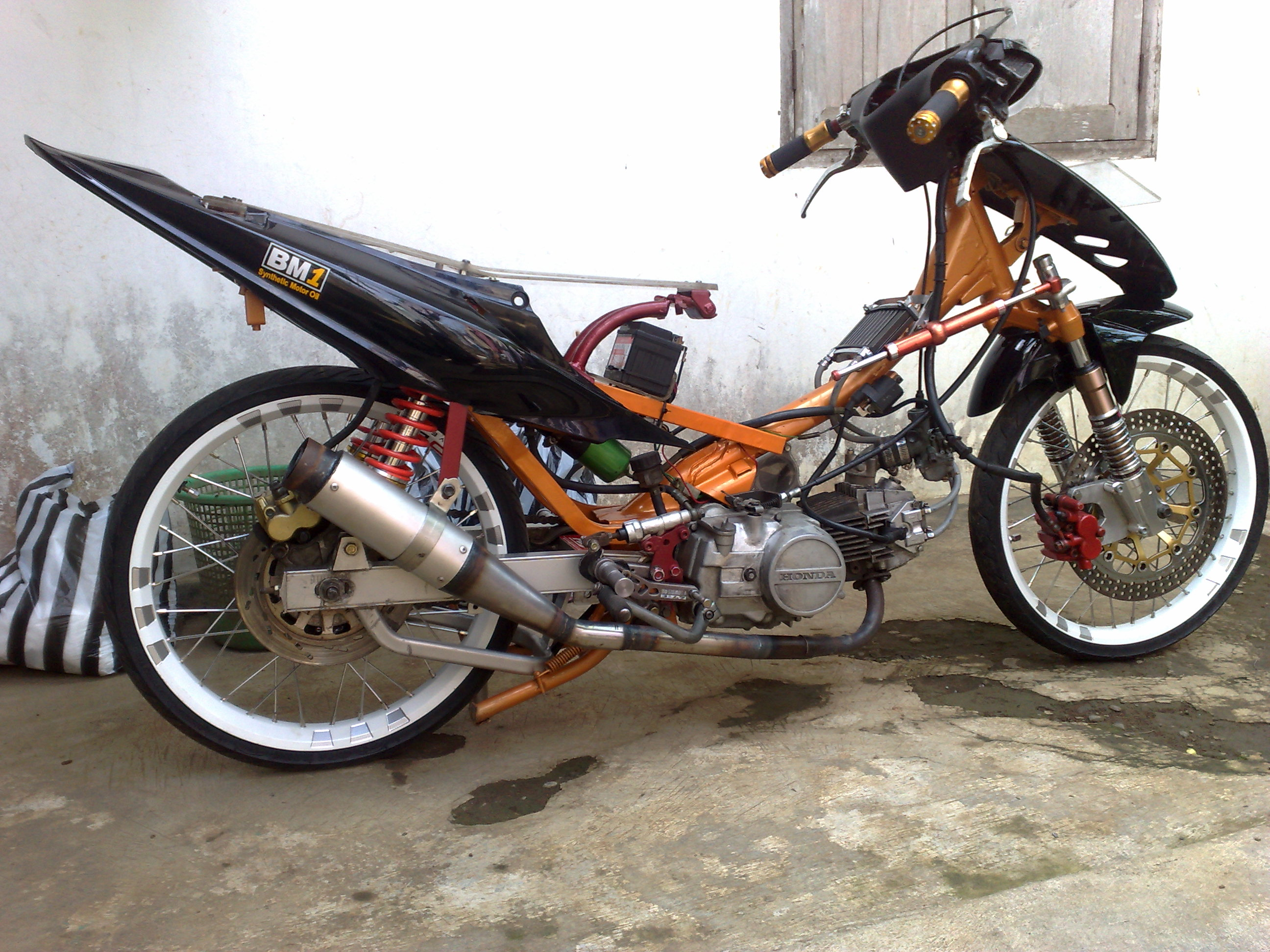 modifikasi motor supra, modifikasi motor honda, modifikasi motor drag