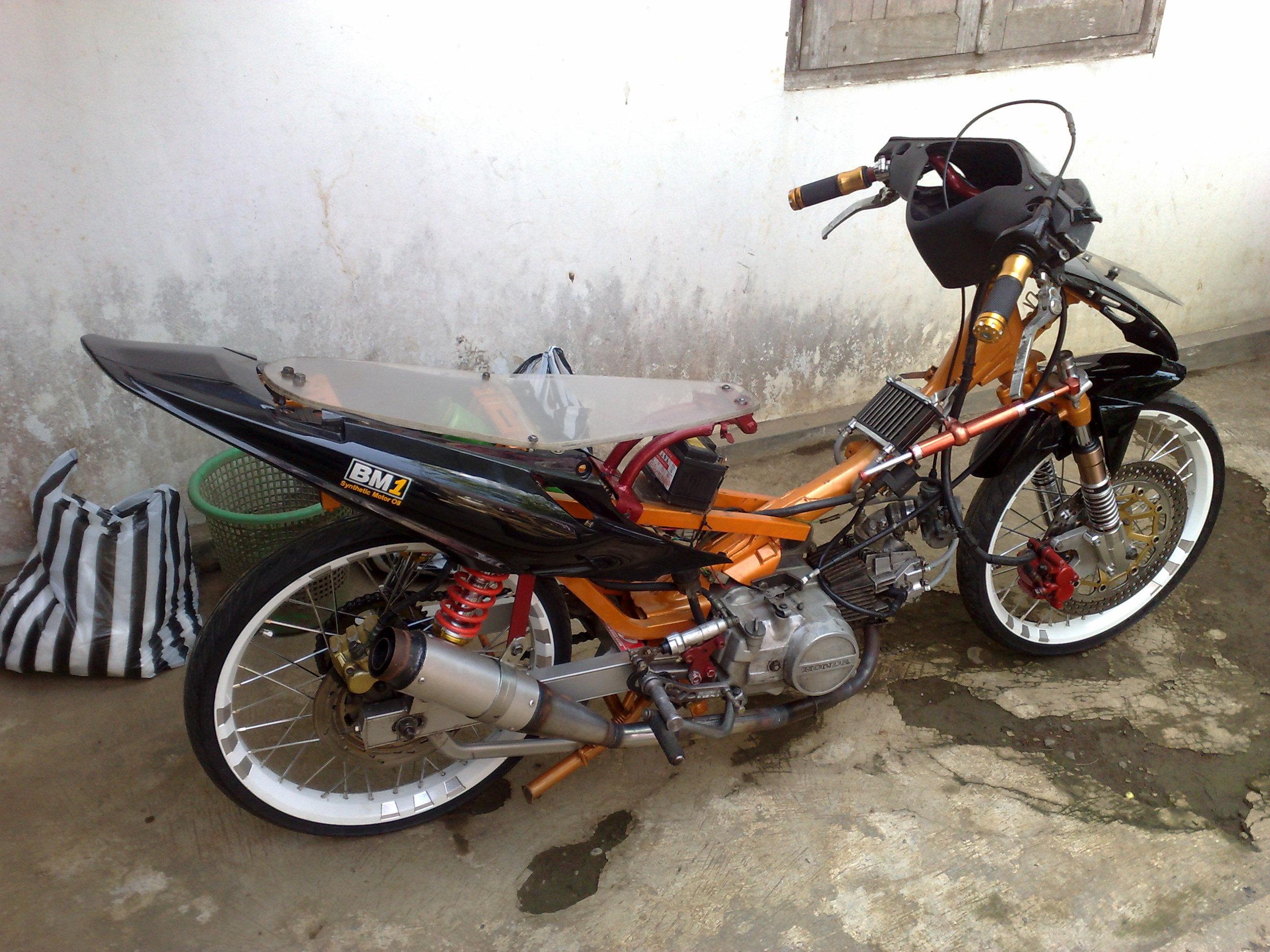 modifikasi motor racinglook, modifikasi motor supra, modifikasi motor