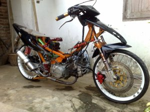 modifikasi motor indonesia, modifikasi motor racinglook, modifikasi motor supra, modifikasi motor honda, modifikasi motor drag